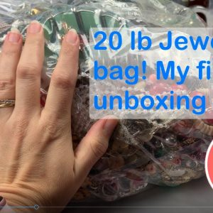 20 Pound Jewelry Bag! My First Mystery Jewelry Unboxing. A Jewelry Jar Can't Hold All This! 1 of 3
