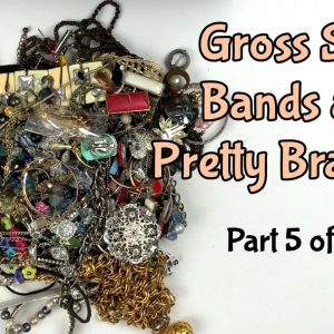 Gross Silly Bands, Yuck! Also Some Super Pretty Stuff In This Jewelry Lot From Arizona Part 5 of 8