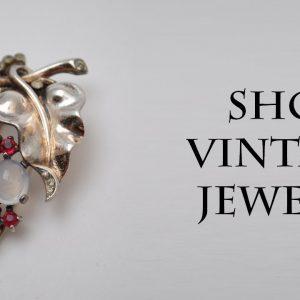 Trifari 1940s Alfred Philippe Grape Fur Clip pin brooch Sterling Silver American vintage jewelry