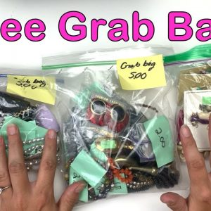 Three Small Jewelry Grab Bags From The Salvation Army Family Thrift Store! A Great Deal at Half Off!